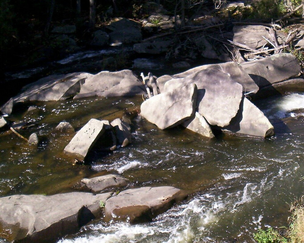 Rocky Stream Bed by katpix