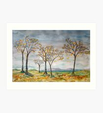 Autumn Breezes, Scottish West Coast Art Print