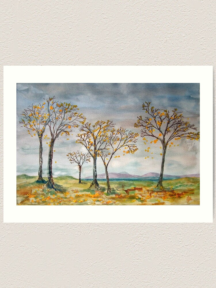 Alternate view of Autumn Breezes, Scottish West Coast Art Print