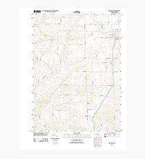 USGS TOPO Map Illinois IL Stockton 20120824 TM Photographic Print