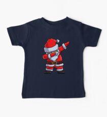 Santa Claus Dabbing Pixel Art T Shirt Christmas Dab Dance Gifts Baby Tee