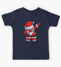 Santa Claus Dabbing Pixel Art T Shirt Christmas Dab Dance Gifts Kids Tee