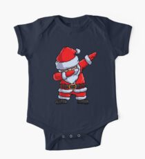 Santa Claus Dabbing Pixel Art T Shirt Christmas Dab Dance Gifts One Piece - Short Sleeve