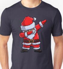 Santa Claus Dabbing Pixel Art T Shirt Christmas Dab Dance Gifts Unisex T-Shirt
