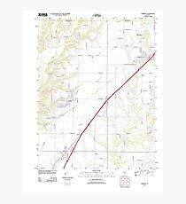 USGS TOPO Map Illinois IL Worden 20120806 TM Photographic Print