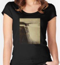 Niagara Falls around 1888 Photograph Women's Fitted Scoop T-Shirt