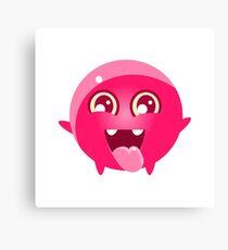 Happy Round Character Emoji Canvas Print