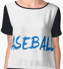 Eat Sleep Baseball Repeat Women's Chiffon Top