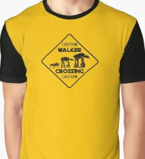 Walker Crossing Sign Graphic T-Shirt