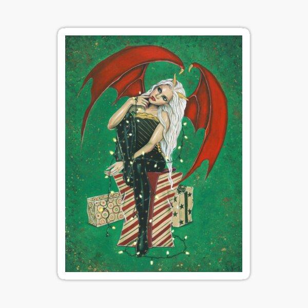 Naughty Or Nice Christmas Demon Sticker