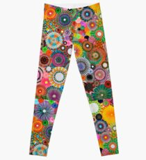Childhood Dreams, a colourful spirograph drawing! Leggings