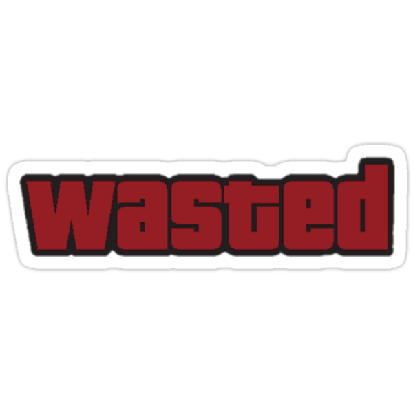 Wastedp Sticker