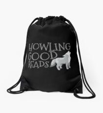 Howling good reads  Drawstring Bag