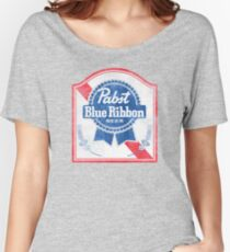 Pabst Blue Ribbon Faded Women's Relaxed Fit T-Shirt