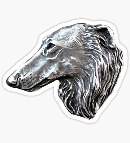 Vintage Borzoi Head Sticker