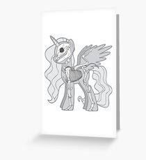 My Little Skeleton: Alicorn Greeting Card