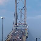 The Forth Road Bridge in the Fog by Tom Gomez