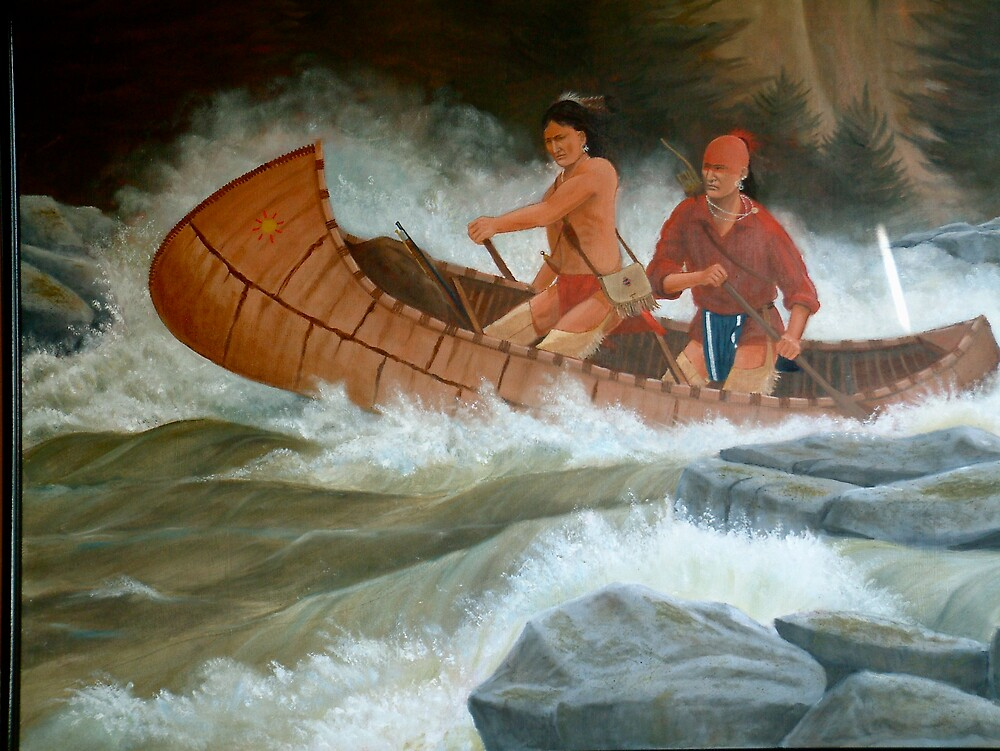 Indians on the New River by haddox