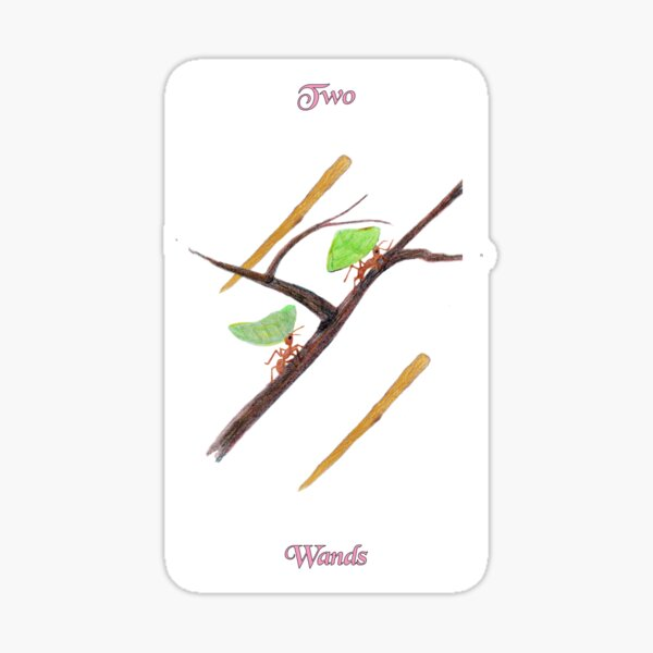 Two of Wands Sticker