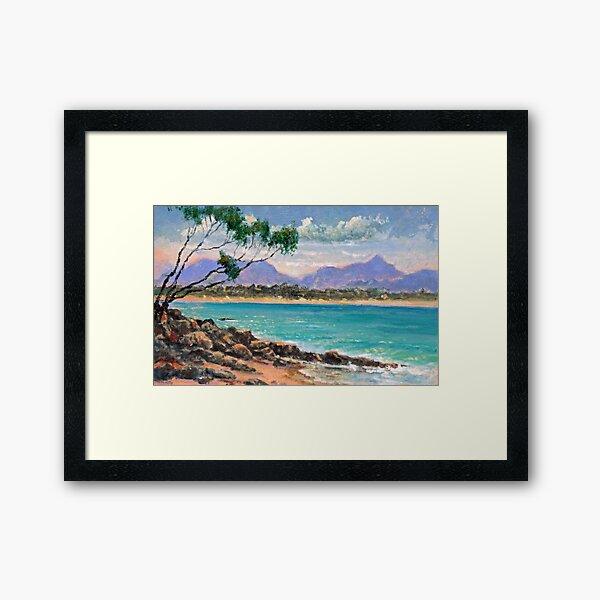 Looking North from Wategos Beach, Byron Bay Framed Art Print