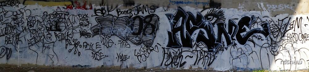 Black and White Graffiti - Panoramic by rdshaw