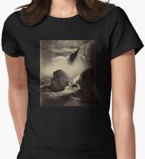 Niagara Falls around 1888 Photograph Women's Fitted T-Shirt