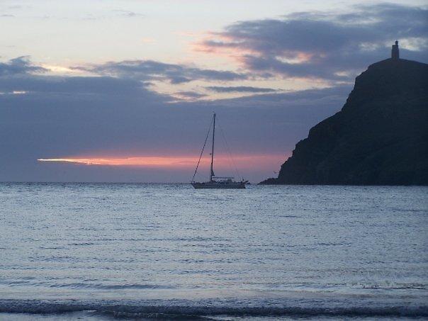 port erin at sunset by natasha nelson