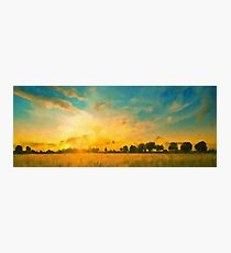 Beautiful evening in the countryside Photographic Print