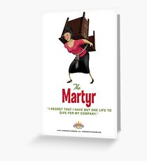 Martyr by Corporate Kingdom Greeting Card