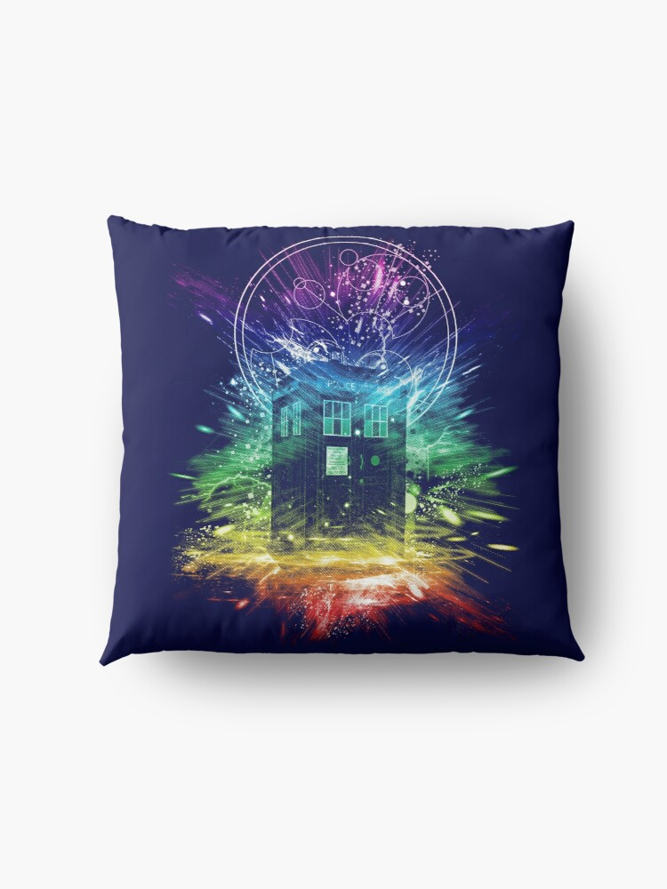 Alternate view of time storm-rainbow version Floor Pillow