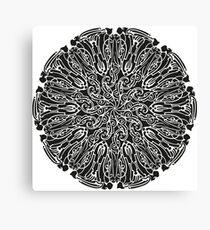 ornate circle Canvas Print