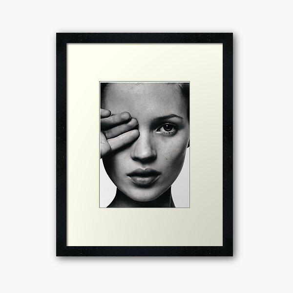 Kate Moss fashion print, Scandinavian poster Framed Art Print