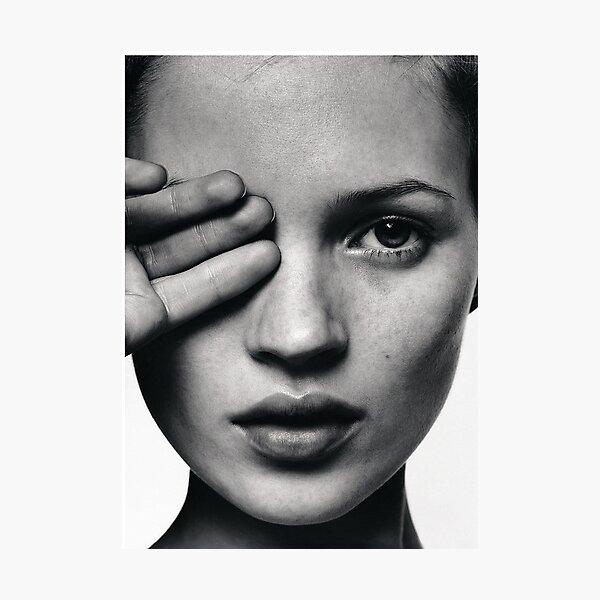Kate Moss fashion print, Scandinavian poster Photographic Print