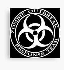 Zombie Outbreak Response Team - dark Canvas Print