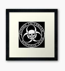 Zombie Outbreak Response Team w/ skull - dark Framed Print
