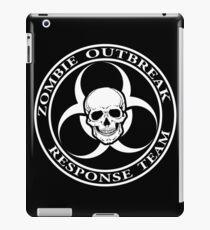 Zombie Outbreak Response Team w/ skull - dark iPad Case/Skin