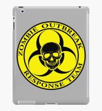 Zombie Outbreak Response Team w/ skull - yellow iPad Case/Skin