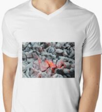 Fire White Print T-Shirt