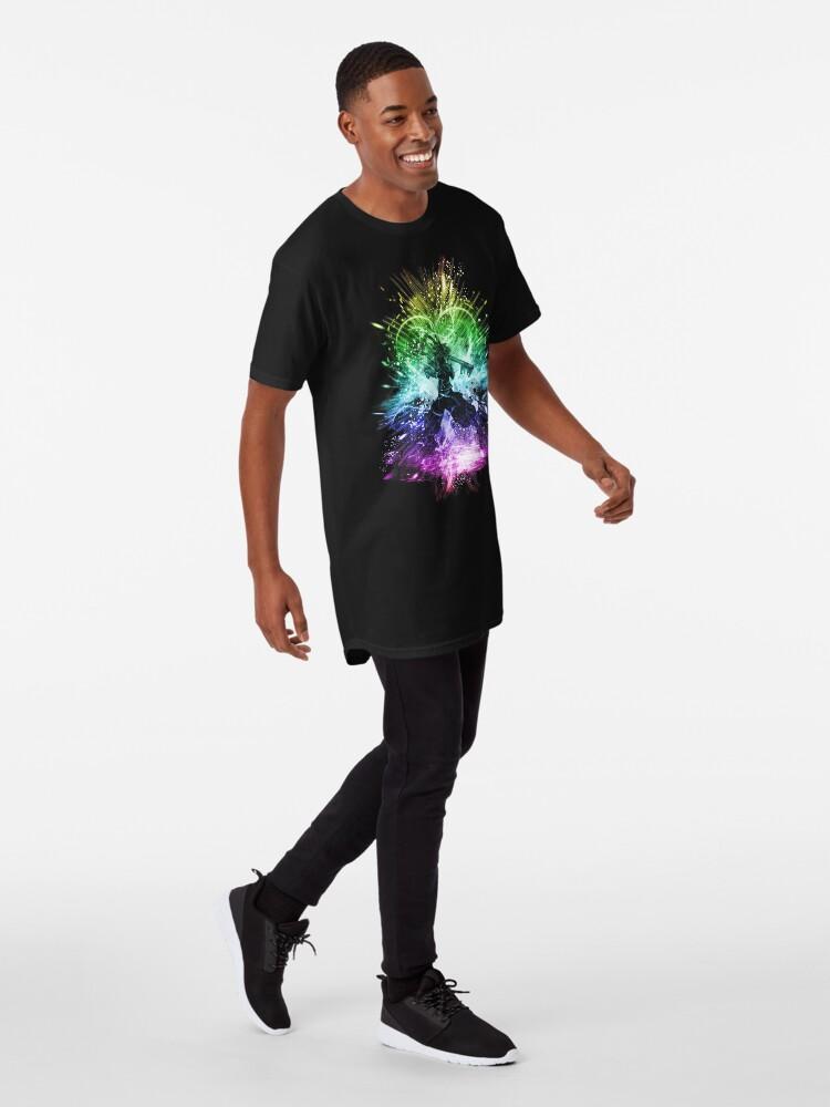 Alternative Ansicht von Königreich Sturm-Regenbogen-Version Longshirt
