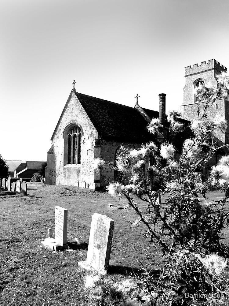 hawkedon church,suffolk by Damien Saul