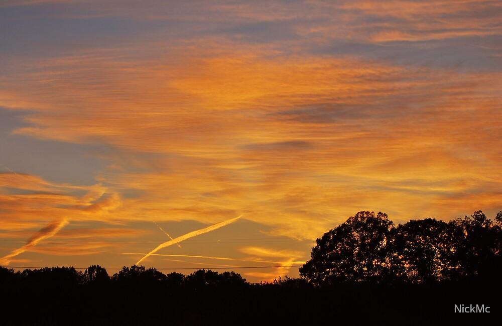 Streaking Sunset by NickMc