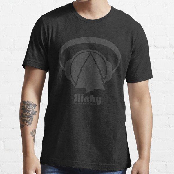 Gray on Black Slinky Logo Essential T-Shirt