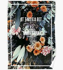 The 1975- You Real Floral Poster