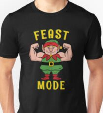 Elf Feast Mode  Christmas  Dinner Table Beast  Gym Workout  Merry Fitmas Ho Ho  Fitness Weights T-Shirt Sweater Hoodie Iphone Samsung Phone Case Coffee Mug Tablet Case Gift T-Shirt