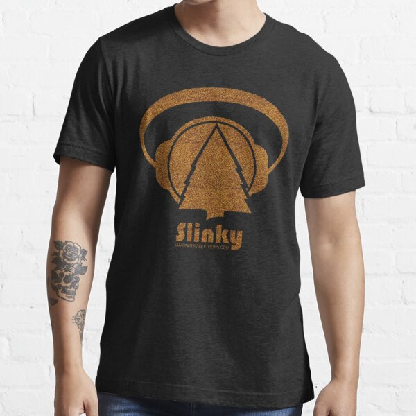 Slinky Logo in Gold Glitter Essential T-Shirt