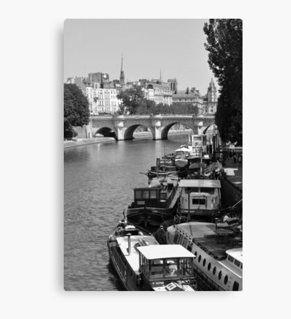 Living on the Seine Canvas Print