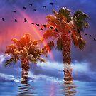 Rainbow In The Tropics  by CarolM
