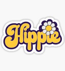 Hippie Font Stickers | Redbubble