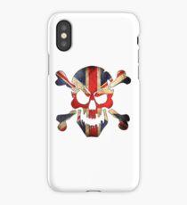 United Kingdom Skull Flag iPhone Case/Skin