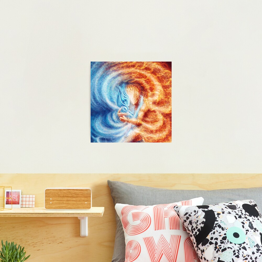 Fire and Ice  (closeup, square) Photographic Print